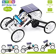 Selieve Stem Toys for 8-10 Year Old Boys, DIY 4WD Car Climbing Vehicle Motor Car Educational Solar Powered Sci