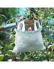 Fruit Picker Head,Metal Fruit Harvester Basket Garden Picking Tool Fruit Catcher Net for Apple Orange Peach Pear, Outdoor Fruit Picking Tool Garden Tools