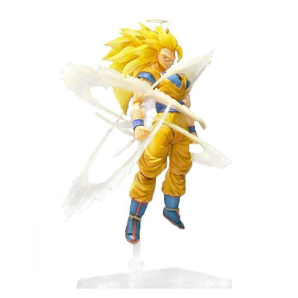 DUDDP Giocattolo Anime Carattere Animazione Dragon Ball SHF Super Saiyan 4 15cm Sun Wukong Giocattolo Mobile Modello Kit Mobile Ornamenti Collezione Scultura Modello di Anime