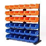HORUSDY 36-Pcs Bin Storage Rack Shelving Garage