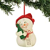 "Department 56 Snowpinions ""Love The Wine You're With"" Porcelain Snowman Christmas Ornament, 3"""