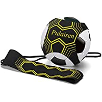 Pulaisen Hands Free Kick Solo Soccer Trainer for Kids and...