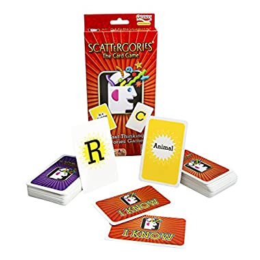 Scattergories The Card Game – Your Favorite Categories Game Meets Slap Jack – For At Home, On a Road Trip, or Vacation – 2 or More Players – Ages 8 and Up