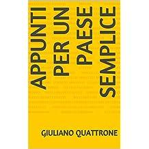 Appunti per un Paese semplice (Italian Edition)