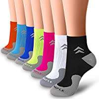 BLUEMAPLE Compression Socks for Women and Men, Compression Ankle Socks, Regular wear, Fashion wear -Say Goodbye to Your Pain