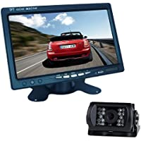 Buyee 7 LCD Monitor Bus Lorry Car Rearview Waterproof Reversing Camera+10m video cable