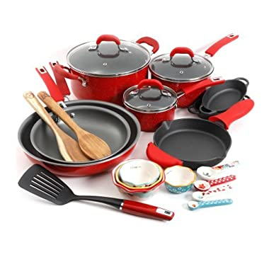 The Pioneer Woman Vintage Speckle 24-Piece Cookware Combo Set