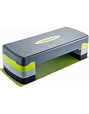 Body & Mind Aerobic Step Board Elite 3-Step Step-Bench con tapete Antideslizante Gratuito