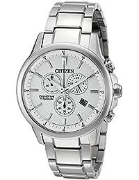 Citizen Eco-Drive Men's 'Titanium' Quartz Casual Watch, Color: Silver-Toned (Model: AT2340-56A)