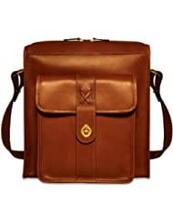 Jack Georges North South Messenger, Cognac, One Size