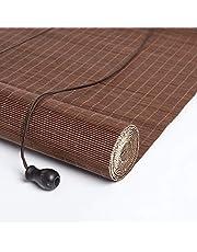 WXQ Exterior Wooden Roller Shade Blinds - Outdoor Roll Up Shade for Deck Yard Gazebo Pergola Patio Porch Carport, 60cm/80cm/100cm/120cm/140cm Wide (Size : W100*H100CM)
