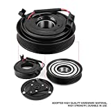 Pulley Bearing Coil Plate, AC A/C Compressor Clutch Assembly Repair Kits Fit for Nissan Altima Sentra 2.5L 2007 08 09 10 11 12 S08OGBC004