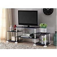Multiple Shelves Mainstays No Tools 3-Cube Storage Entertainment Center for TVs up to 40 (Navy)