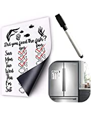 Did You Feed The Dog Fish Cat Pet Feeding Reminder Magnetic Whiteboard Calendar Food Tracker Sticker Fridge Magnets AM/PM Daily Indication Chart Feed Your Pets with Magnetic Pencil