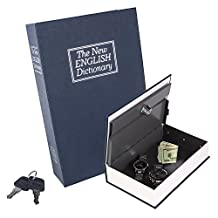 Book Safe, Beinhome The New English Dictionary Book Safe with Key Lock