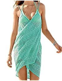 Moyishi women's swimsuit Cover Up and Spaghetti Strap Beach Dress