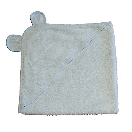 Applesauce Turkish Cotton Hooded Baby Bath Towel, Blue