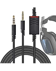 Millketitech Replacement Astro A10 A40 Cable, 2.0M A40 Inline Mute Cable Cord Compatible with Astro A10/A40 Gaming Headsets Xbox One Ps4 Controller Headphone Audio Extension Cable 6.5 Feet Black