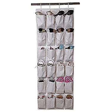Uphome Space-efficient Wall Hanging Rack Storage Bag - Durable Over-the-Door Polyester Fabric Shoe Organizer with 24 Pockets
