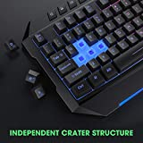 PICTEK Backlit Keyboard and Mouse Combo, LED Wired
