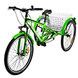 Slsy Adult Mountain Tricycle, 7 Speed Three Wheel