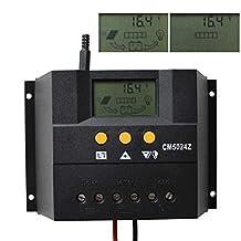 Sun YOBA 50A Solar Regulator Charge Controller 12V 24V Auto 1200W Solar Panel CM5024Z