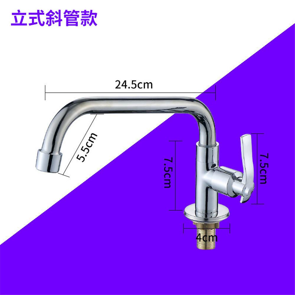 Guolaoer Single Cold Faucet Into Wall Can Be redated White The