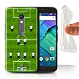 STUFF4 Gel TPU Phone Case / Cover for Motorola Moto X Play 2015 / 4-2-3-1/White Design / Football Formation Collection