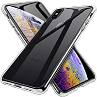 INGLE Ultra [Slim Thin] TPU Silicone Soft Protective Case Cover for iPhone Xs Max (Clear)