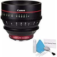Canon CN-E 85mm T1.3 L F Cine Lens (International Model no Warranty) + Deluxe Cleaning Kit 6AVE Bundle 1