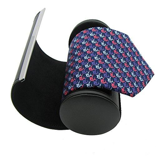 Qobod Silk Necktie Handmade Tie Mens Gift Box Dolphin