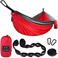 Gold Armour Camping Hammock - XL Double Parachute Camping...