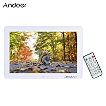 """Andoer 12"""" Wide Screen HD LED Digital Picture Frame Digital Album 1280*800 Electronic Photo Frame with Remote Control Multiple Functions Including LED Clock Calendar MP3 MP4 Movie Player"""