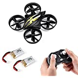 ECVILLA Mini RC Helicopter Drone 2.4Ghz 6-Axis Headless Mode Remote Control Quadcopter Toy (2 Batteries)