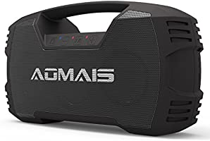 AOMAIS GO Bluetooth Speakers,Portable Indoor/Outdoor 30W Full Volume Wireless Stereo Pairing Speaker IPX7 Waterproof,Booming Bass with Power Bank,Durable for Pool Party,Beach,Camping,Hiking