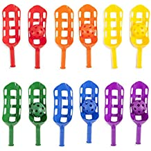 Champion Sports. Scoop Ball Set: Classic Outdoor Lawn Party & Kids Game in 6 Assorted Colors