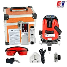 Kaitian 5 Line 6 Point Horizontal Vertical Laser Level with Tripod and Outdoor Receiver