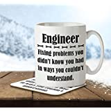 MNC_JOB_003 Engineers. Fixing Things You Didnt Know Were Broken in Ways You... - Mug and Coaster by The Inky Penguin