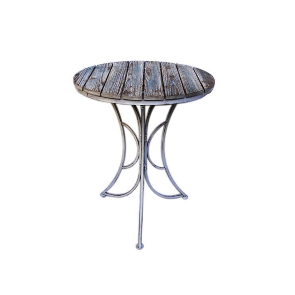 Folding Chair Home Jardín Terraza al Aire Libre Bar al Aire Libre Café Ocio Mesa y Silla de jardín Combinación de Tres Piezas Mesa Plegable (Tamaño: una Mesa)