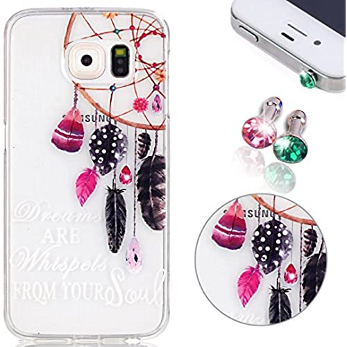 Transparent Silicone Case for Samsung Galaxy S7, Pershoo Ultra Slim Soft TPU Non slip Anti-Scratch Colorful Painting Sales