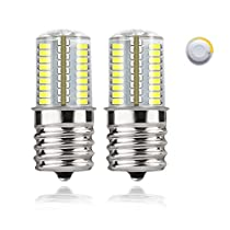 DiCUNO E17 LED Bulb Microwave Oven Light 4 Watt Dimmable Soft White 3000K/Daylight White 6000K 723014SMD AC110-130V (2-Pack)
