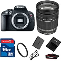 Canon T5I DSLR + 18-200mm IS Lens+ 16GB Memory + UV Filter + Deluxe Value - International Version