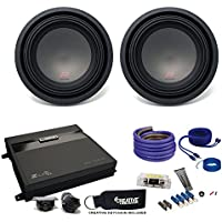 Two Alpine R-Series 10 Subwoofers & MB Quart ZA2-1000.1D 1000 Watt Amplifier & Wiring Kit