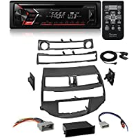 Single 1 DIN CD MP3 Player For Android MIXTRAX USB AUX W/ Car Radio Stereo Install Dash Kit Harness Antenna for 2008-2012 Honda Accord