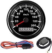 85mm Digital GPS Speedometer Waterproof with Green 160MPH Gauge GPS Digital Odometer 200km/h Universal for Car
