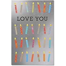 American Greetings Love You Candles Birthday Card with Foil