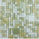 Amazoncom Green Glass Tiles Tiles Tools Home Improvement - Green-glass-bathroom-tile