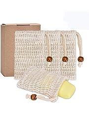 Willingood - Juego de 4 bolsas de jabón, con cordón para jabón hecho a mano
