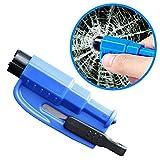 Roleadro Multipurpose Window Breaker, Portable Key Chain Seat Belt Cutter Safety Hammer for Rescue & Emergency Escape (Blue)