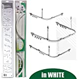 EcoSpaPROFESSIONAL Shower Curtain Hanging Track Glide Rail Rod in White | 3 Configurations - SHORT & LONG L SHAPES, U SHAPE by EcoSpa